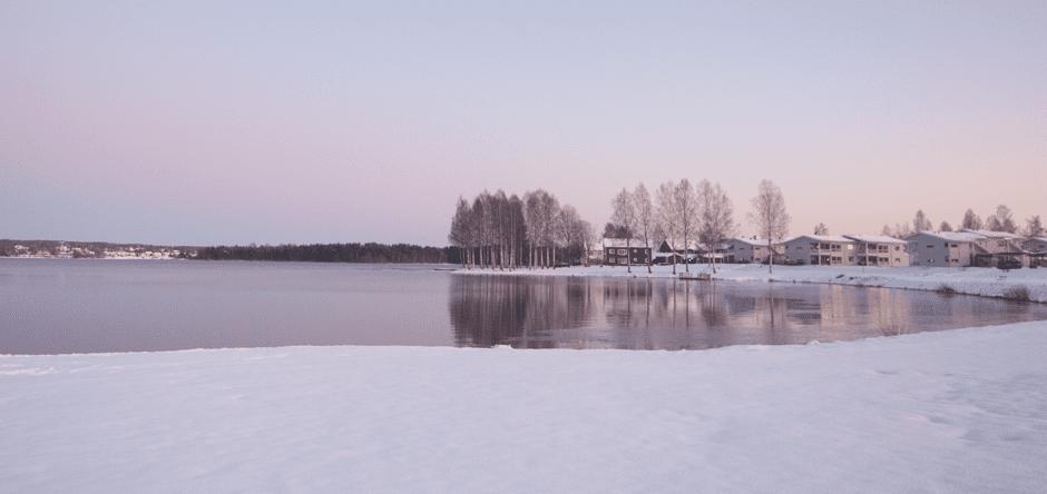 Saxviken in Mora in December. Photo: Pei Liang